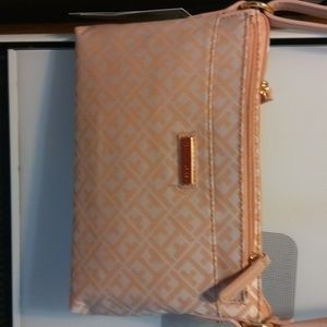 Beige crossover purse